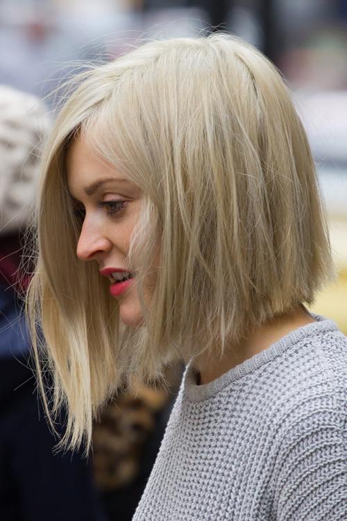Fearne Cotton Straight Ash Blonde Asymmetrical, Bob Hairstyle   Steal ...