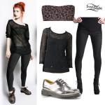 Hayley Williams: Skeleton Leggings Outfit