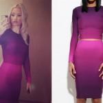 Iggy Azalea: Ombré Top & Skirt