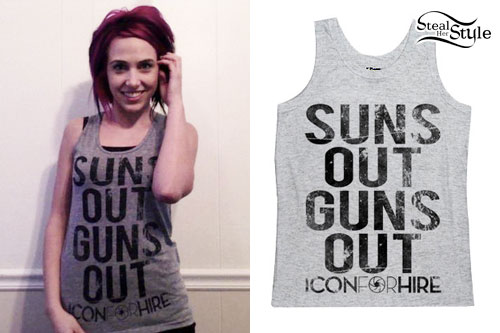 Ariel Bloomer: Suns Out Guns Out Tank Top