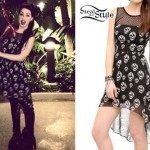Ash Costello: Mesh Skull Print Dress