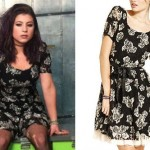 Chloe Chaidez: Black Floral Dress