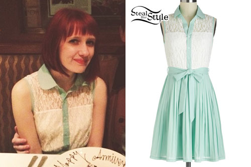 Christie DuPree: Lace Button-Up Dress