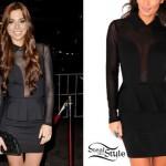 Christina Perri: Mesh Peplum Dress