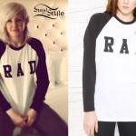 Ellie Goulding: Rad Raglan Top