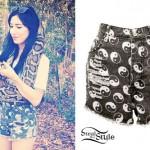 Jessica Origliasso: Yin Yang Shorts