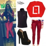 JoJo Levesque: Red & Black Outfit