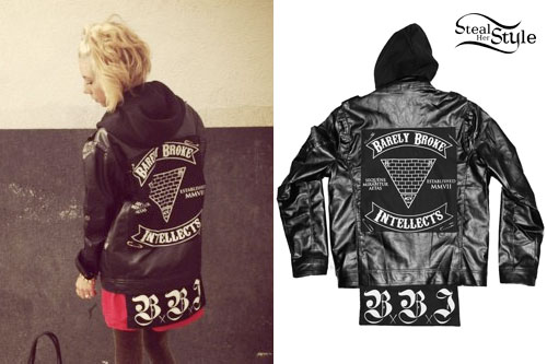 Lil Debbie: Hooded Leather Jacket