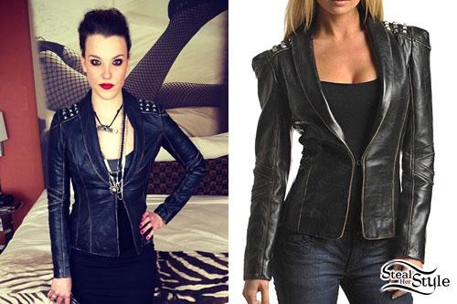 Lzzy Hale: Studded Leather Jacket