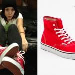 Tay Jardine: Red High Top Vans