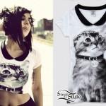 Yasmine Yousaf: Collared Cat Top