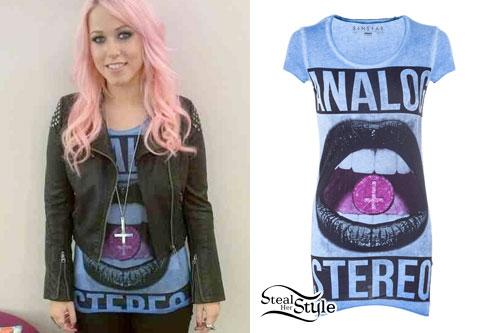 Amelia Lily: Analog Stereo Lips T-Shirt