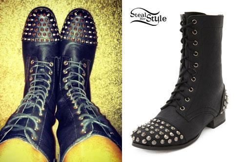 Anissa Rodriguez: Studded Combat Boots