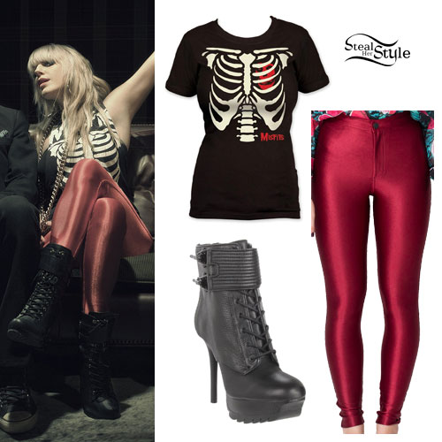 Anna Worstell Red Disco Pants Outfit Steal Her Style