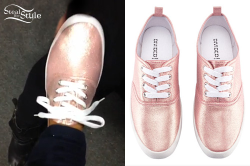 Ariana grande glitter sneakers steal her style