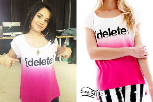 Becky G: Pink Ombre Delete T-Shirt