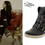 Becky G: Studded Wedge Sneakers