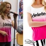 Bridgit Mendler: Delete Pink Ombre T-Shirt