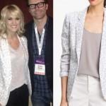 Carrie Underwood: White Leopard Blazer
