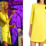 Carrie Underwood: Yellow Shift Dress