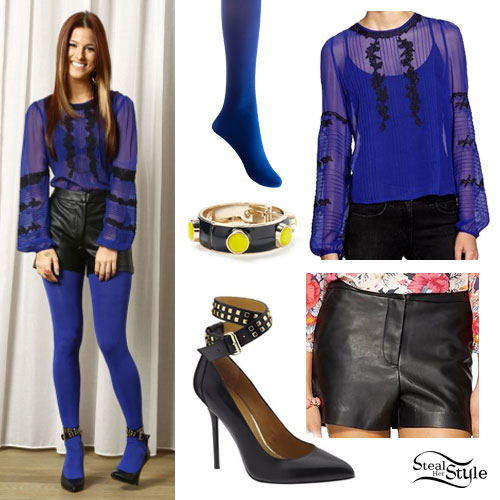 36406c03db3 Cassadee Pope  Blue Lace Blouse Outfit