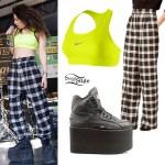 Charli XCX: Platform Sneakers, Sports Bra