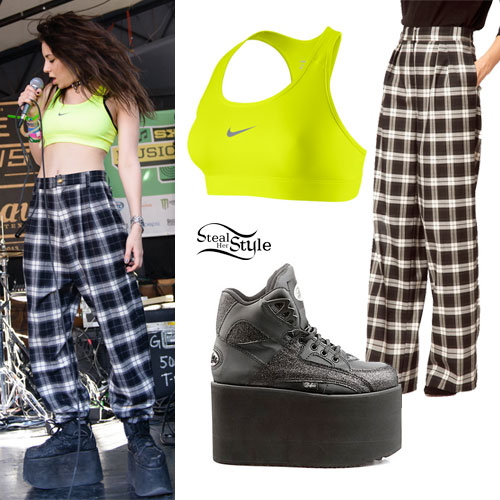 Charli Xcx Platform Sneakers Sports Bra Steal Her Style