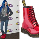 Cher Lloyd: Red Patent Boots