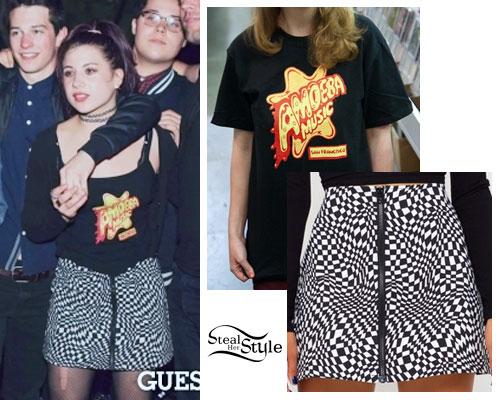 Chloe Chiadez: Checkerboard Print Skirt