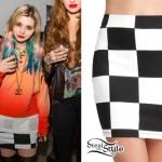 Colette Carr: Checkerboard Mini Skirt