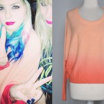 Colette Carr: Peach Ombre Sweater