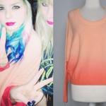 Colette Carr: Peach Ombre Sweater