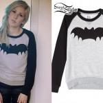 Ellie Goulding: Bat Raglan Sweatshirt