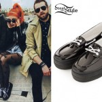 Hayley Williams: Black Patent Boat Shoes