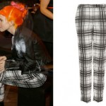 Hayley Williams: White Plaid Pants