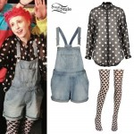 Hayley Williams: Polka Dots & Overalls Outfits