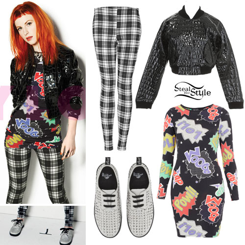 hayley williams nylon magazine cover outfit steal her style