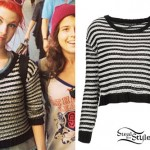Hayley Williams: Striped Crop Sweater