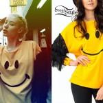 Iggy Azalea: Fringe Smiley Face Top