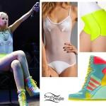 Iggy Azalea: Palm Tree Swimsuit, Wedge Sneakers