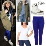 Jade Thirlwall: Green Parka, Blue Pants