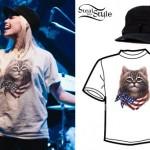 Jenna McDougall: American Flag Cat T-Shirt