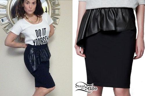 JoJo Levesque: Leather Peplum Skirt