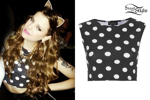 Juliet Simms: Polka Dot Crop Top