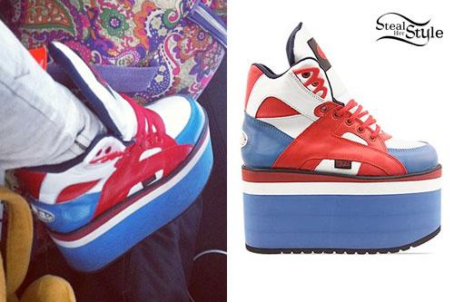 Kerli: Red White & Blue Platform Sneakers