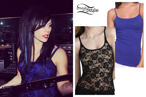 Korey Cooper: Lace Tank Top