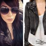 Lexus Amanda: Denim Moto Jacket