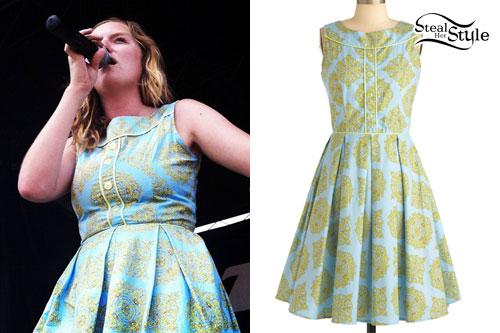 Lindsey Stamey: Baroque Printed Dress