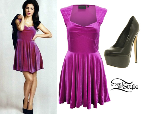 Marina Diamandis Outfits Marina Diamandis Velvet Dress