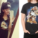 Melanie Martinez: Cats On Pizza Galaxy Tee